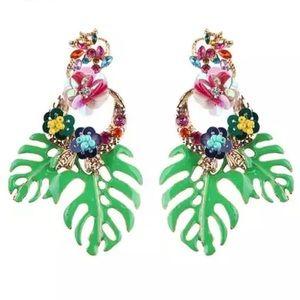 Jewelry - Palm Leaf Statement Earrings